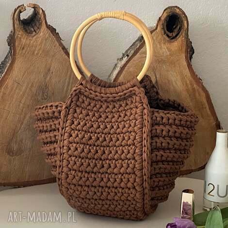 torba damska koszyk na szydełku handmade, torebka damska, szydełkowa