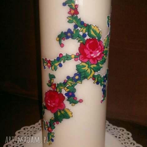 świeczniki świeca z akcentem góralskim, świeca, świecznik, góralski, folk