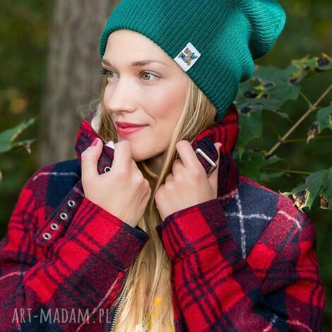 czapa dwustronna logo kolorowe forest beanie, czapka jesienna, hit sezonu, czapka damska