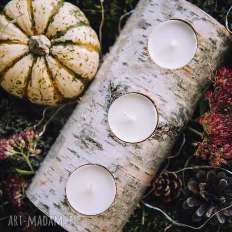 świecznik brzozowy, rustic, rustykalny, wiejski dom, pod choinkę prezent