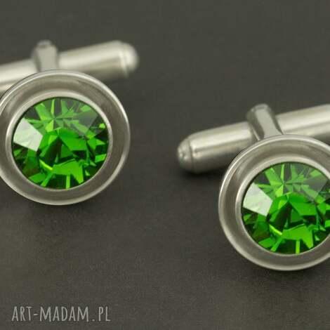 luksusowe spinki do mankietów zielone lukato - mężczyzna, mezczyzna, spinki