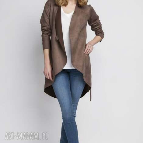 lanti urban fashion żakiet, za112 brąz, elegancki, stylowy, zamszowy, blezer