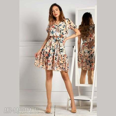 sukienka shanti mini jusenia, mini, print, z printem