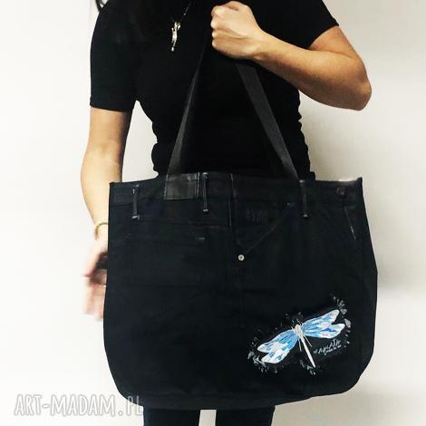 duża torba upcykling jeans 47 g-star, upcykling, jeans, toba