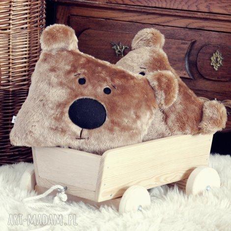 miś futerkowa poduszka - przytulanka, wózek łóżeczko podróż