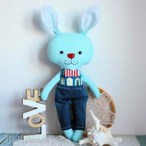 maly koziolek królik tuptuś - jasiu 45 cm, królik, maskotka, zabawka