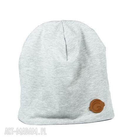 ciepła czapka szara - ciepła, czapka