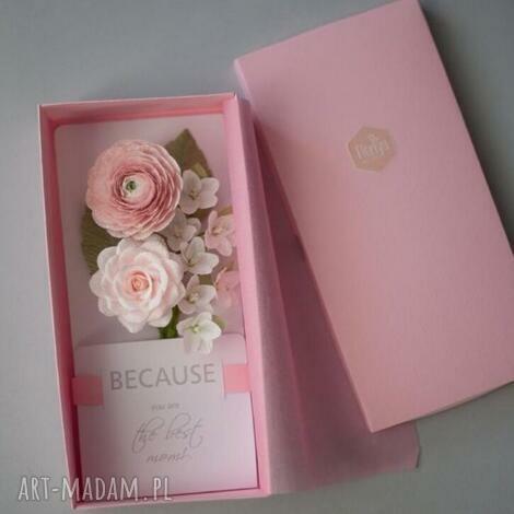 karteczki 3d na prezent dla mamy., pudełko