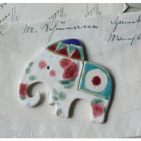 słoń magnes, ceramika, słoń
