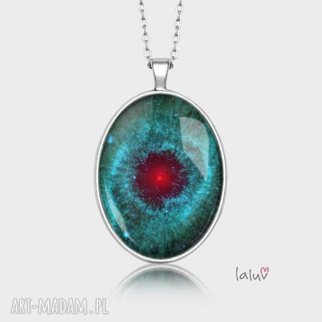 medalion owalny nebula - wszechświat, kosmos, gwiazdy, prezent galaktyka mgławica