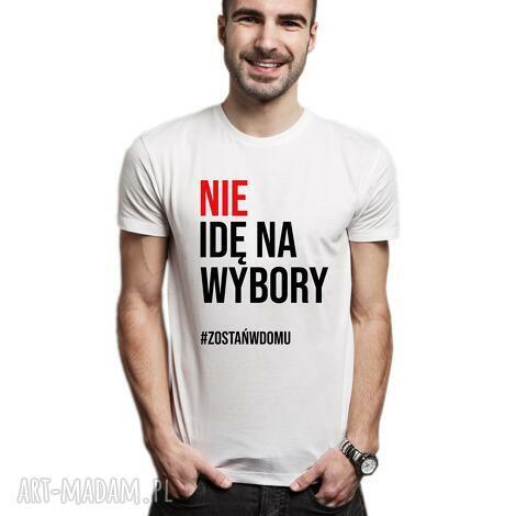 koszulka męska nie idę na wybory, t shirt, dlaniego, sprzeciw, protest