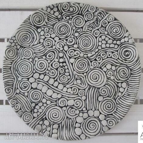 aztecka patera - ceramiczna, handmade, parapetówka, orientalna