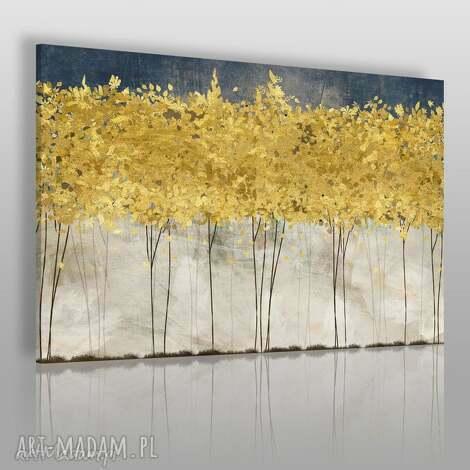 obraz na płótnie - zŁote drzewa - 120x80 cm 77101 - drzewa, abstrakcja