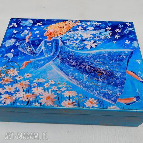 pudełka szkatułka lekkość bytu, anioł, kwiaty, lekkość, 4mara, szkatułka, pudełko