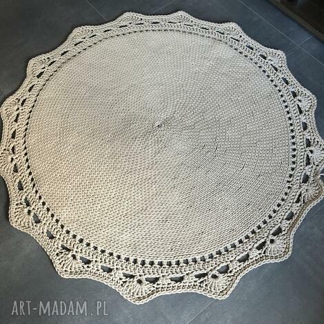 dywan ze sznurka baweŁnianego beŻowy 145 cm - dywan, chodnik, sznurek