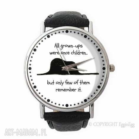 mały książę - skórzany zegarek z dużą tarczą - mały