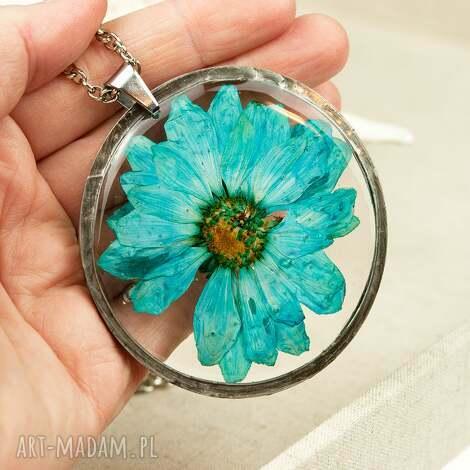 naszyjnik z prawdziwym kwiatem z50 - naszyjnik z kwiatów, herbarium jewelry