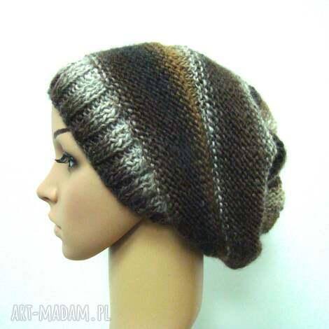 czapka w brązach, czapeczka, cieniowana, lekka uniwersalna, prezent