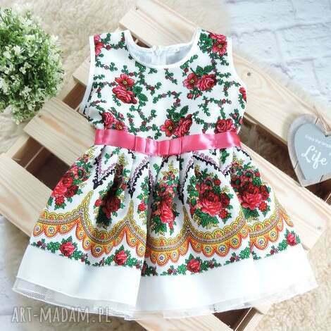 sukienka góralska dziecięca cleo 98 104 folkowa, sukienka, dziecięca, folk, folkowa