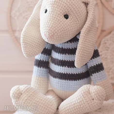 królik z pozytywką, królik, szydełkowa, maskotka, szydełko, przytulanka, bunny