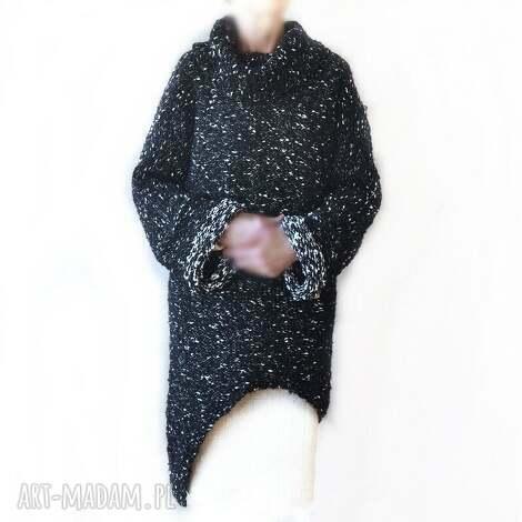 asymetryczna tunika, sweter handmade, asymetryczna, sweter, oversize