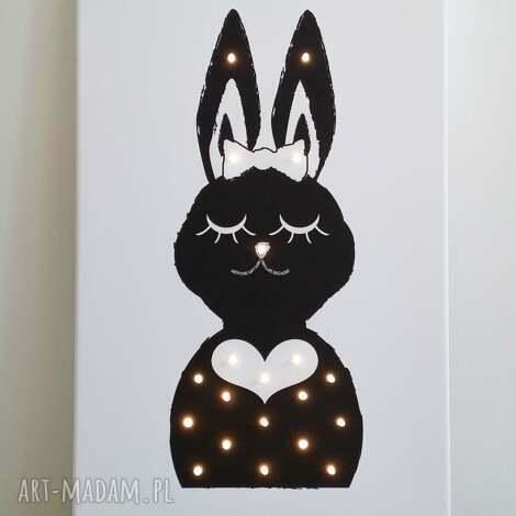ŚwiecĄcy obraz pani krÓlik prezent lampa dziecko - obraz, królik