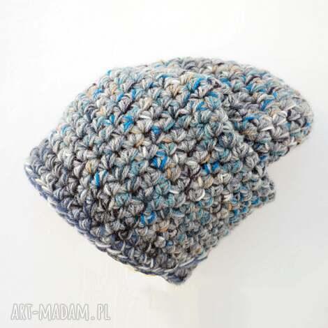 czapka hand made no 023 / beanie szydło, ciepła, szydełko, krasnal, narciarska