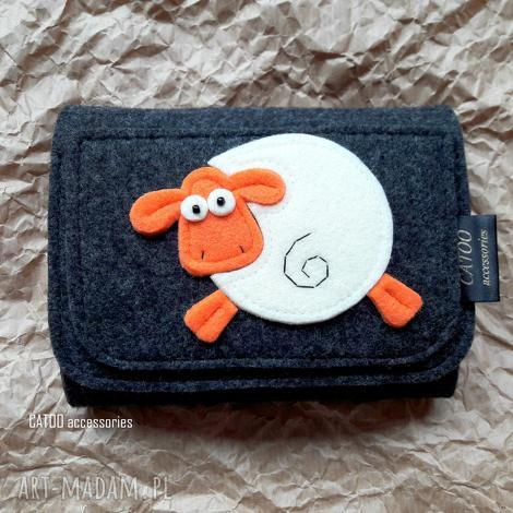 filcowy portfel z owieczka 002, portfel, filcu, owieczka, prezent, duzy
