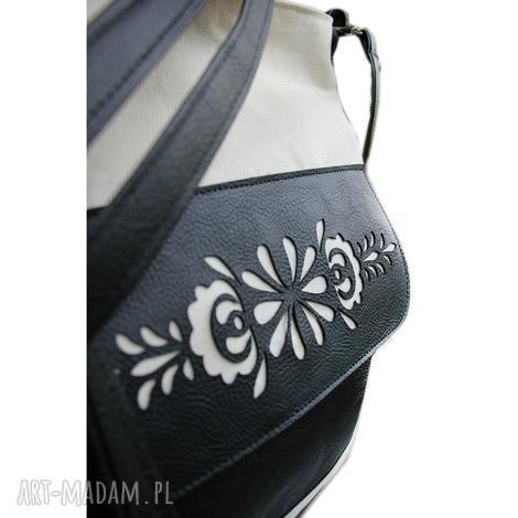 na ramię torba płótno ażurek, shopper, torba, torebka, ażurek torebki