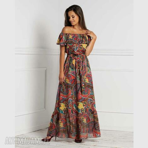 sukienka latina maxi indira, maxi, hiszpanka