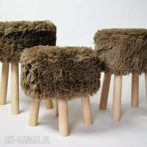 fjerne s brązowy futrzak, twórczykąt puf, pokój dziecko, siedzisko