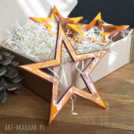 ceramiczne gwiazdki na choinkę, ceramika, święta, choinka, prezent, ozdoby, gwiazdy