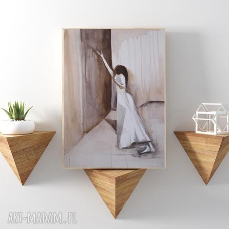 bez skrzydeł reprodukcja 20x30 cm, plakat, kobieta, a4, reprodukcja, obraz