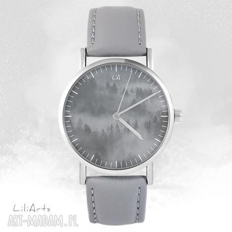 liliarts zegarek - into the wild szary, skórzany, zegarek, bransoletka