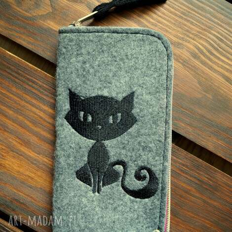 filcowe etui na telefon - kotek, smartfon, pokrowiec, futerał, prezent, koci