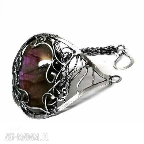 luana - bransoleta, srebro, labradoryt, hajcz, biżuteria