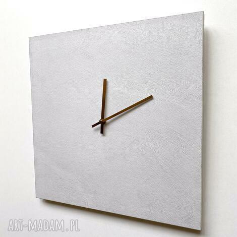 zegary zegar ścienny jasny beton, ścienny, do domu, na ściane