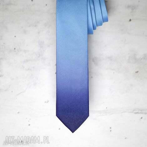 unikalny, krawat ombre, krawat, nadruk, prezent