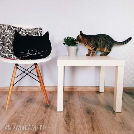 poduszka kocia główka - poduszka, kot, kocia, główka, haft, skandynawska