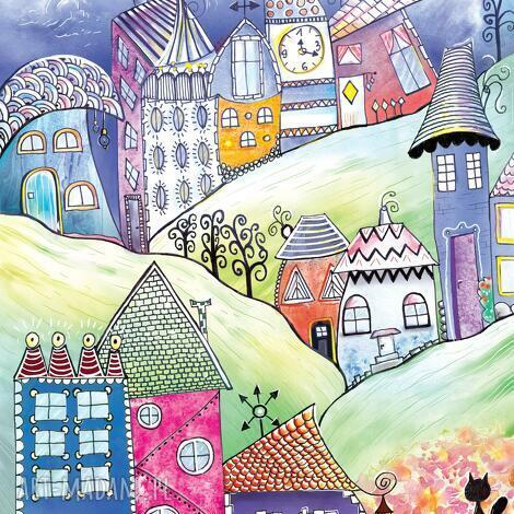 puzzle baśniowe wzgórza - magnetyczne, puzzle, artystyczne, art, krajobraz