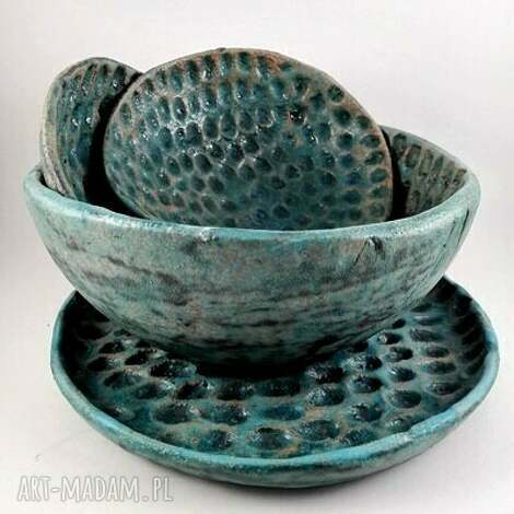 ceramika miski ceramiczne - kolekcja morska, ceramika, dom, prezent, patera, miska