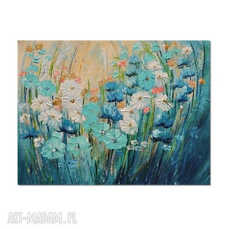 polne kwiaty, łąka 9 obraz ręcznie malowany