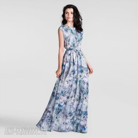 sukienka nerea maxi frezja, sukienka, maxi, długa, kwiaty, lato