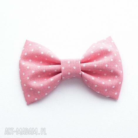 ozdoby do włosów spinka kokardka peony pink, kokarda, spinkadowłosów