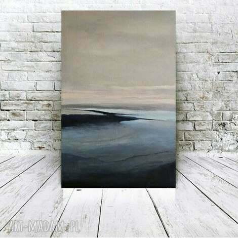 831f9930099e02 abstrakcja w szaroŚciach -obraz akrylowy formatu 40 60cm - abstrakcja,  obraz, akryl