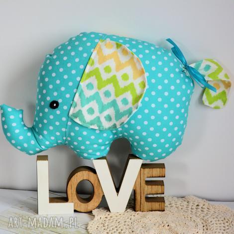 słonik tutek - adaś, szczęście, kolorowy, bezpieczny roczek, urodziny