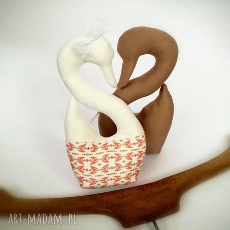zawieszki zapachowe do szafy łabędzie, aromat, szafa, bawełna, prezent, ślub