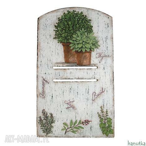 ziołowa - deseczka pod kalendarz, prezent, podkładka, zawieszka