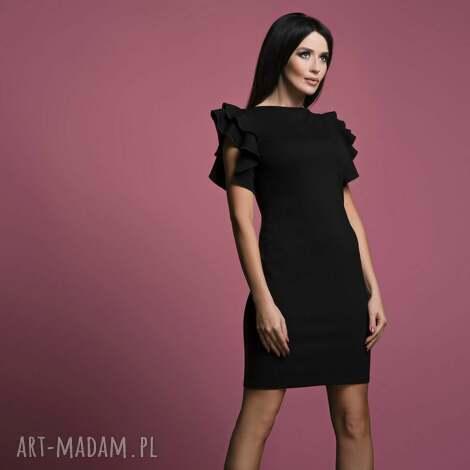 sukienki sukienka t165, czarna, sukienka, elegancka, kobieca