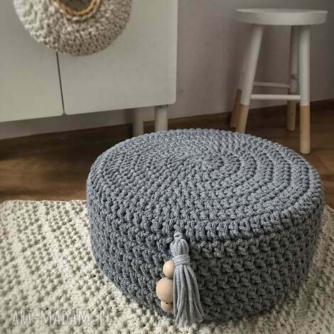 knitting factory dziergana pufa z mocnym wkładem, pufaboho, pufascandi, boho